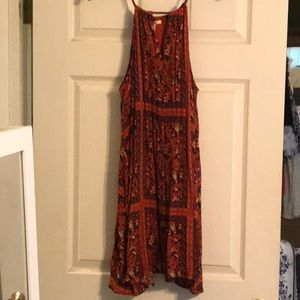 MIAMI RUST/BROWN FLORAL BEACH/SUNDRESS SZ MED